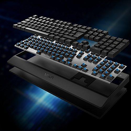 Mechanische Tastatur VAVA Gaming Tastatur 16.8 Millionen RGB Farben, Blaue Switsches, 100% Anti-Ghosting, 104 Tasten Robuste UV-Beschichtung, Ergonomisches Design, Deutsches Layout QWERTZ - 7