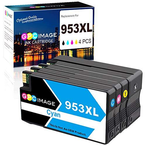 GPC Image 953 XL Remanufactured Tintenpatrone für HP 953XL 953 XL Kompatibel für HP Officejet Pro 8710 8720 8715 8730 7740 8740 8725 8218 8718 8719 druckerpatrone (Schwarz,Cyan,Magenta,Gelb,4-Pack)