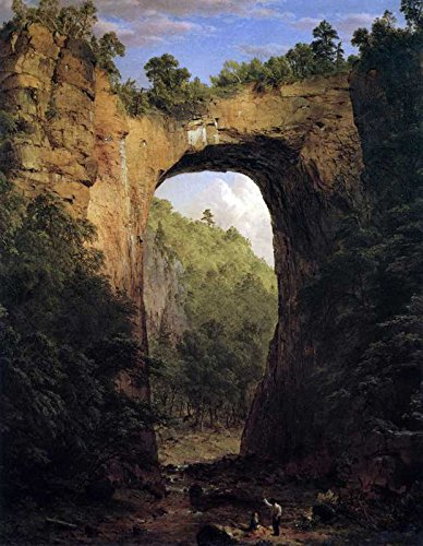 Das Museum Outlet - Art Postkarte - Die Natural Bridge, Virginia von Frederick Edwin Church - Set 12 Stück Postkarten -