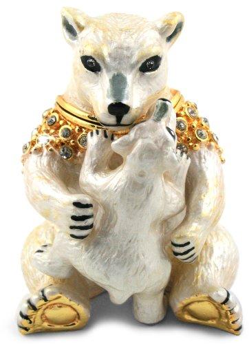 objet-douverture-art203-snuggle-maman-et-bebe-ours-polaire-marayan-fait-a-la-main-email-boite-a-bijo