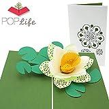 PopLife Cards Flor de loto día de las madres tarjeta emergente todas las ocasiones día de la madre, feliz cumpleaños, ponerse bien, aniversario, boda, pensando en ti, jardín japonés, flores asiáticas