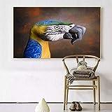 RQJOPE Tierische Ölgemälde von Guido Daniele drucken auf Leinwand Adler Tiger Leopard Pferd Schlange Shark Dog Deer Crane Poster Bild (16x24inch)
