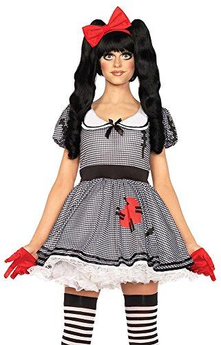 Halloween Kostüm Geist Harlekin - Leg Avenue Damen-Kostüm Aufziehpuppe , Größe:M