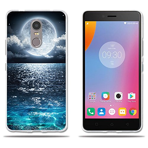 fubaoda Lenovo K6 Note Hülle, [Super Moon] e Silikon TPU Fashion Kreatives Design Anti-Scratch Smart Schutz Slim Fit Shockproof Flexible 3D zeitgenössischen Chic Design Protector für Lenovo K6 Note
