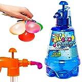 esto24- Wasserbomben Pumpe inkl. 200 Wasserballons und Einfüllhilfe für Wasserbomben
