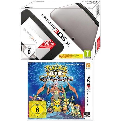 Super Pokemon Nintendo Für Das (Nintendo 3DS XL - Konsole, silber/schwarz + Pokémon Super Mystery Dungeon)