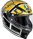 AGV Motorradhelm Corsa R E2205 Top PLK, Rossi Goodwood Gelb, Größe ML