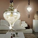 MIA Light Orientalische Hänge Leuchte Orient/Golden/ Messing/Amber/ Pendel Lampe Arabische Marokkanische Hängelampe Hängeleuchte Pendellampe Pendelleuchte