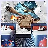 BHXINGMU Benutzerdefinierte Wandbild 3D Tanks Wand Papier Militärischen Themed Wallpaper Persönlichkeit Flugzeuge Hintergrund Fototapete 190 Cm (H) X 250 Cm (W)