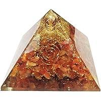Karneol Stein Pyramide Heilung Kristalle Reiki organite Pyramide Reiki Spritual Geschenk mit Rot Geschenk Tasche preisvergleich bei billige-tabletten.eu