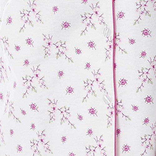 Damen Warm Winter Pyjama Set Gebürstet Gewebte Baumwolle & Augenmaske Mulberry
