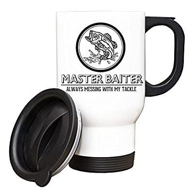 Master Baiter TRAVEL Mug Funny Gift Idea fly fishing angling carp tackle 152 by Duke Gifts