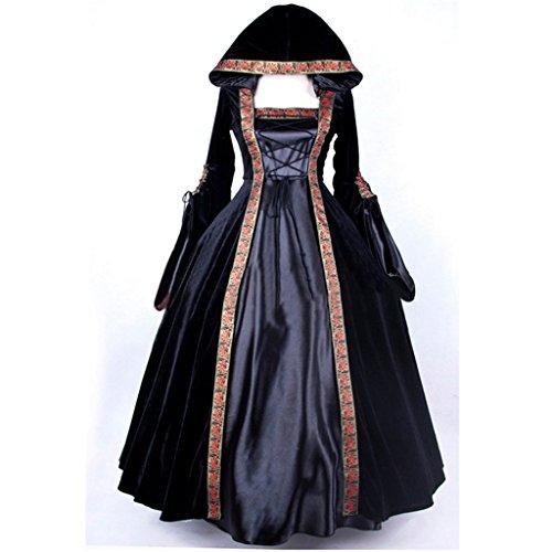 Cosplayitem Damen Mittelalterlichen Kleid Gothic viktorianischen Kostüm Abendkleid Maskerade Kleider Langarm Königin Prinzessin (Kostüme Prinzessin Viktorianische)