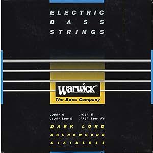 Warwick BlackLabel 085-175, 4-string, Dark Lord · Corde basse électrique