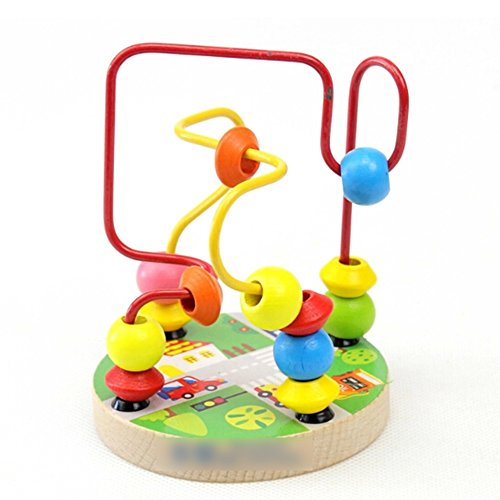 Jouet de bois Coloré Jouet Educatif de Maze Puzzle(Couleur Random)