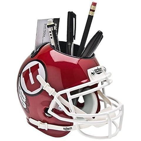UTAH UTES NCAA Schutt MINI Football Helmet OFFICE PEN/PENCIL/BUSINESS CARD