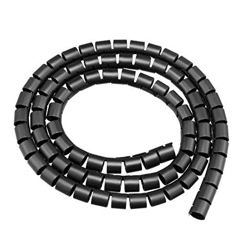sourcing map 10mm Flexibel Spiral Rohr Kabel Draht Computer Verwalten Schnur Schwarz 1M de -