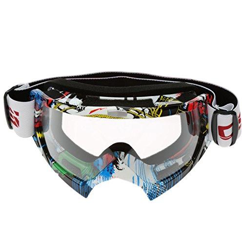 Vintage Multicolor UV Protección Gafas de motocross Gafas para moto bike
