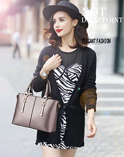 NICOLE&DORIS nuovi stereotipi della borsa di moda della borsa a tracolla temperamento femminile Messenger(Pink) Cinnamon
