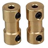 Golden Brass albero adattatore rigido connettore di accoppiamento accoppiatore Connettore di trasmissione del motore con viti Wrench