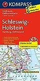 Schleswig-Holstein, Hamburg, Ostfriesland: Großraum-Radtourenkarte 1:125000, GPX-Daten zum Download (KOMPASS-Großraum-Radtourenkarte, Band 3701)