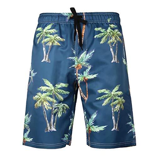 BOJIN Pantalones Cortos de natación para Hombre, hasta la Rodilla, impresión 3D, para Surf, para niños...