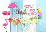 SUNBEAUTY Sommerfest Fotorequisiten 12er Set Booth Props Flamingo Foto Requisiten - 2
