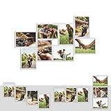 Kunststoff Bilderrahmen Fotorahmen Collage zum individuellen gestalten 8X 13x18cm Weiß mit Normalglas und Klammern
