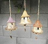 3 Keramik Glocken Gartendeko