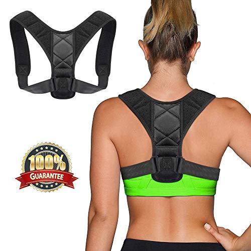 Grsafety Rückenorthesen für Männer und Frauen/voll verstellbare, leichte Rückenlehne für Nacken-, Schulter- und Rückenlehne