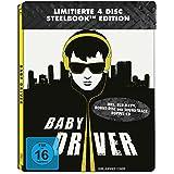 Baby Driver Steelbook (2 Discs-Steelbook + 2 Discs-Soundtrack ) [Blu-ray]
