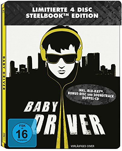 Baby Driver Steelbook (2 Discs-Steelbook + 2 Discs-Soundtrack ) [Blu-ray] [Limited Edition]