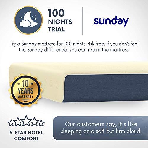 Sunday 100% Latex Mattress. LGA Licensed. King Size - 72 x 78 x 8 Inch, Off-White Image 7
