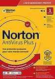 Norton Antivirus Plus 2020 | Antivirus pour 1 appareil et un an d'abonnement avec renouvellement automatique | PC/Mac | Code d'activation - envoi par email...