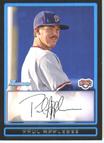 paul-applebee-washington-nationals-draft-pick-prospect-rc-extended-rookie-card-2009-bowman-draft-pro
