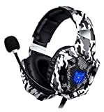 PS4 Headset, ONIKUMA Gaming headset for PS4 Xbox One PC Headphones with Microphone