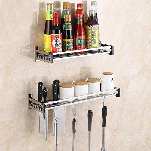 Racks montados en la pared_estante de especias multifuncional para cocina 304 herramienta...