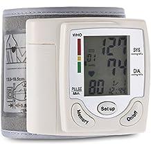 Monitor de Presión Arterial de Muñeca, Pantalla LCD Digital Puño de Muñeca con Detección de