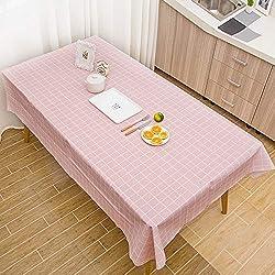 MOIKA Nappe de Table Rectangular Style Simple Impression à Carreaux Coloré Impermeable Fête Maison Restaurant Mariage Essentials Nappe Anniversaire(Rose,90 * 137)