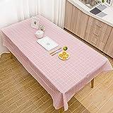 MOIKA Nappe de Table Rectangular Style Simple Impression à Carreaux Coloré...