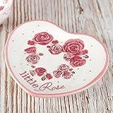 Little rosa de cerámica para bolsitas de té, Tidy, W10cm x L8.5cm prevenir Manchas de té bolsa de todo tipo de superficies, gran casa calentamiento regalo, artículos a juego disponibles