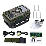 Wildkamera 1080P HD WiMius, Trail Kamera 125° Breite, Jagdkamera 2,4 Zoll LCD, Wasserdicht IP56, Infrarot 20m Nachtsicht 46 IR-LEDs, Überwachungskamera für Wildbeobachtung, Spiel, zur Überwachung und zum Auskundschaften -