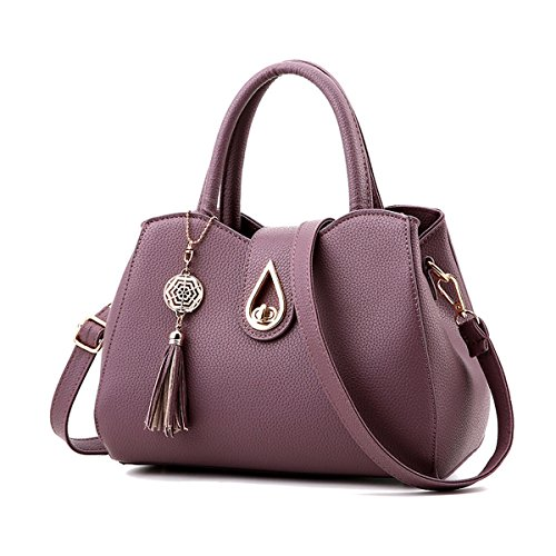 Madedress Frauen Tote Taschen Damen Handtaschen Umhängetasche Hochwertige Schultertaschen Handtasche für Damen DeepPurple