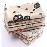 Generic 10 : Hot Sale Sewing DIY Cloth Multi Pattern Retro Printing Pattern Natural Cotton Linen Fabric Quilting Patchwork Optional 78X51CM