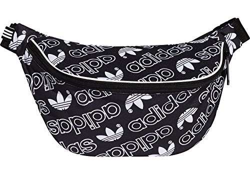 adidas Erwachsene Monogram Adicolor G Gürteltasche, Black/White, One Size (Adidas Schwarzes Tennis-tasche)