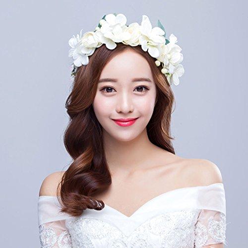 Sincere@ Weiß Hand Korean Bräute schöne Bogen Kranz Kopfschmuck weibliche Haar-Accessoires Sen weiblichen Schmuck Großhandel (Großhandel Haar Bogen)
