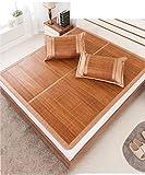 WENZHE Matratzen Strohmatte Teppiche Bambus Sommer Schlafmatten Haushalt Atmungsaktiv Faltbar Matten (Farbe : A, größe : 0.9 * 1.9m)
