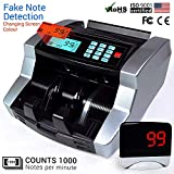 GOLDSTANDARD Portable LCD Digital Electronic Currency Counting Machine with Automatic Fake Note Detector