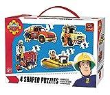 King 4in1 Shaped Puzzle - Rompecabezas (Rompecabezas de Figuras, Dibujos, Niños, Niño, 3 año(s), Cartón)