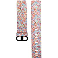 Cooljun pour Fitbit Charge 3,Bracelet de Remplacement en Silicone en Camouflage Floral